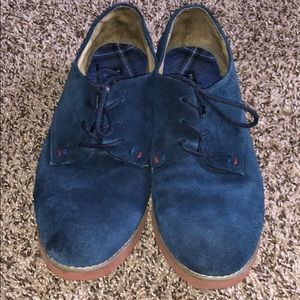 Tommy Hilifer Blue Suede Honeybee Oxford Shoes